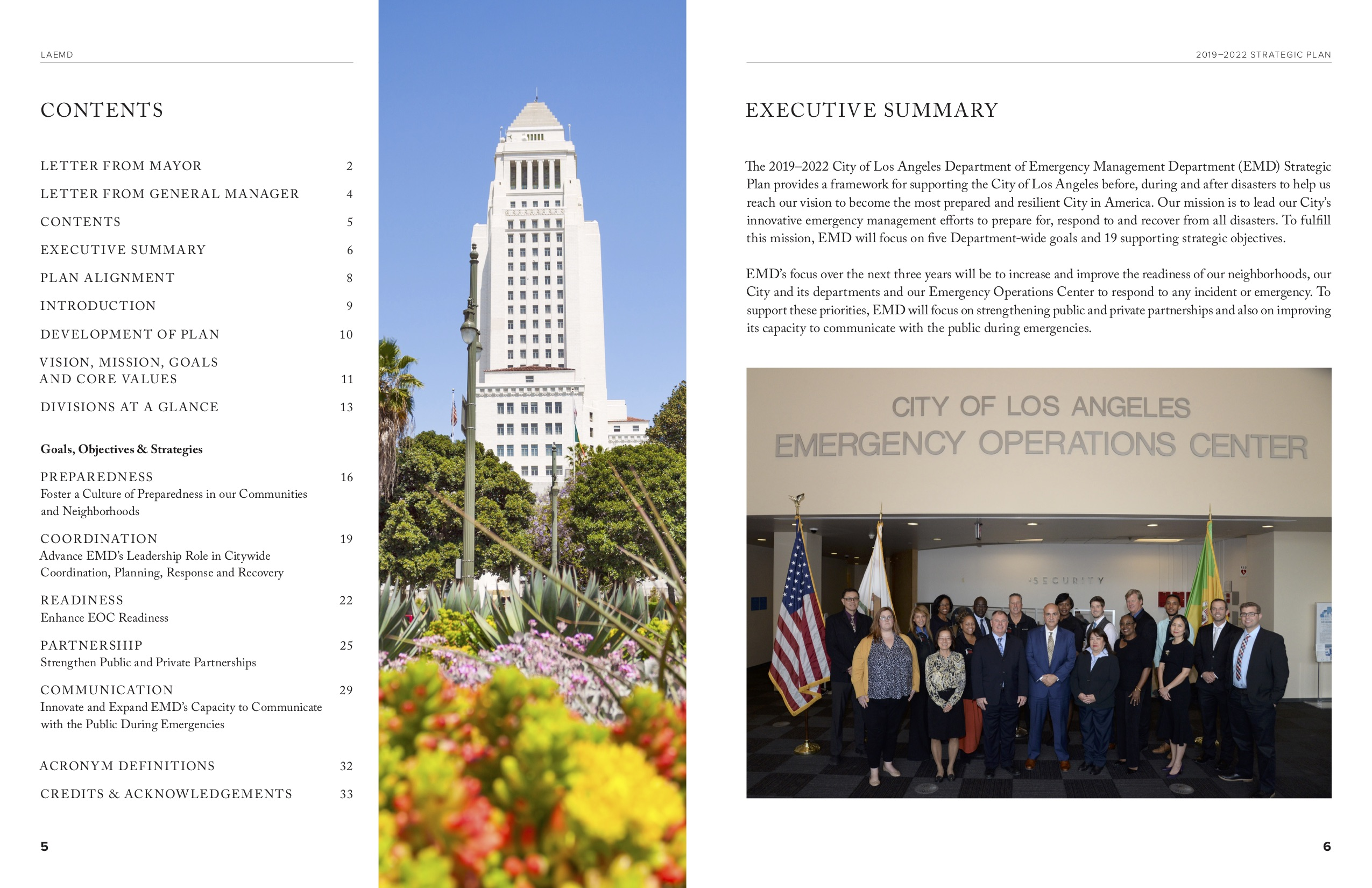 City of Los Angeles Emergency Management Dept Strategic Plan