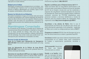 City of Long Beach, Emergency Planning Guide (Spanish)