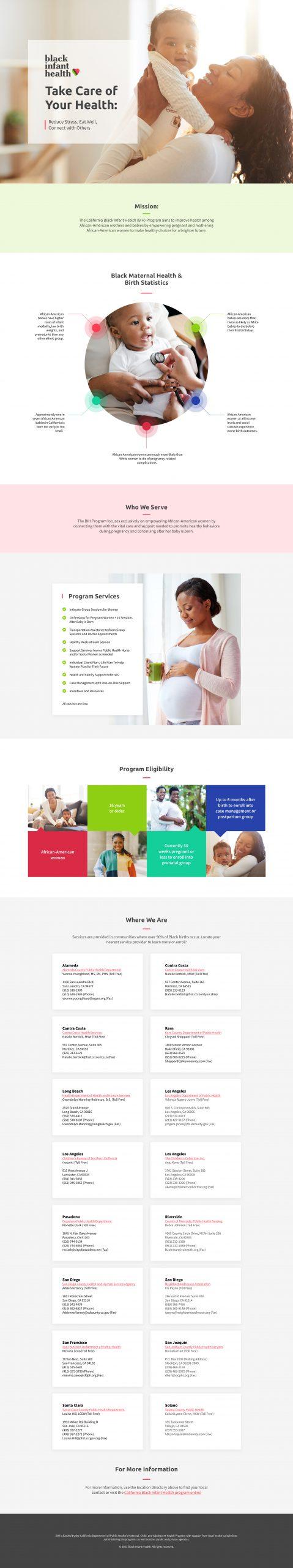 City of Long Beach Black Infant Health Website