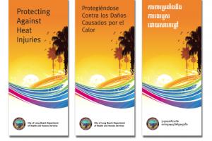 Heat Injuries Brochure – English, Spanish, Khmer