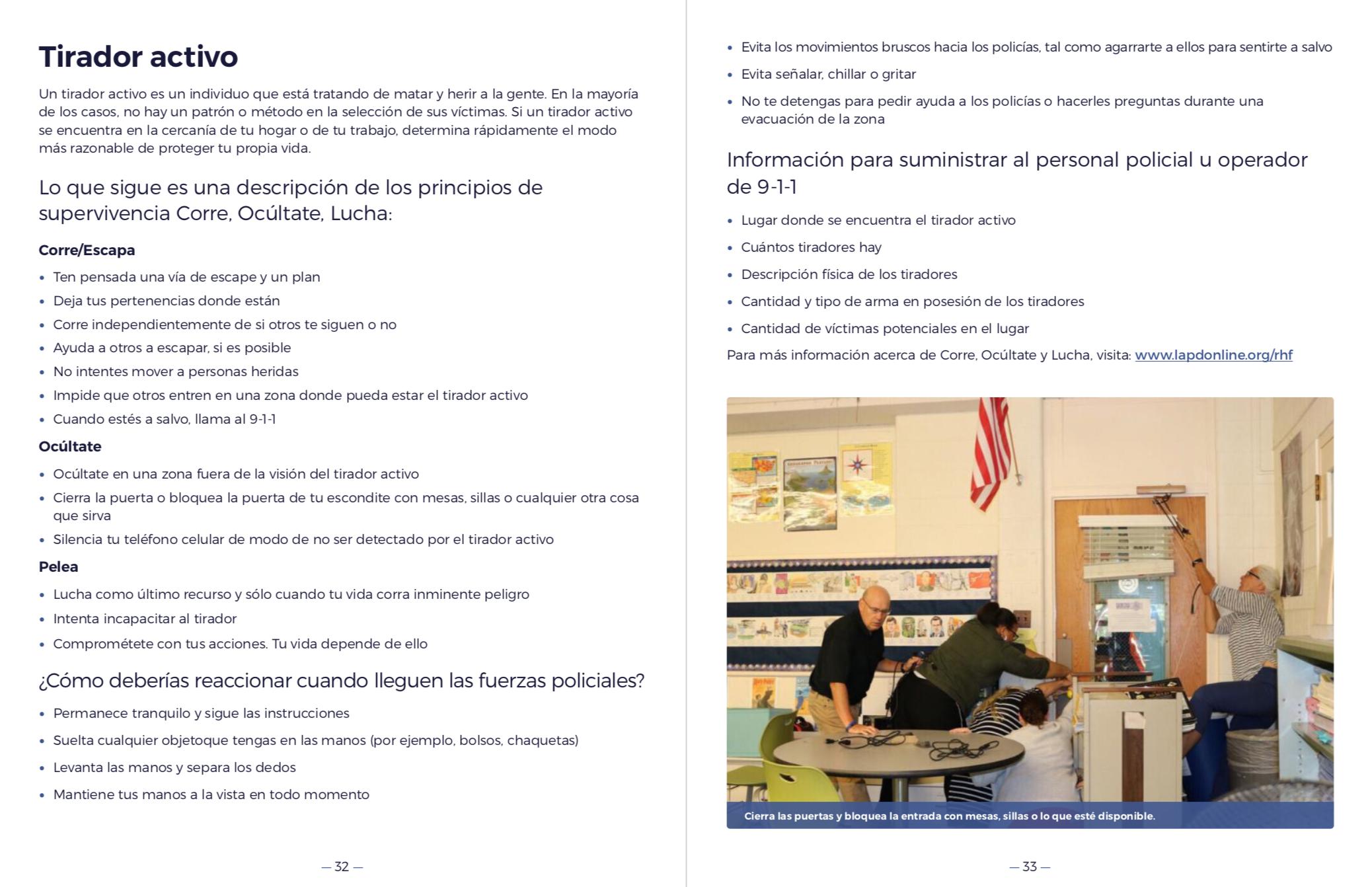 City of Los Angeles Emergency Preparedness Resource Guide (Spanish)